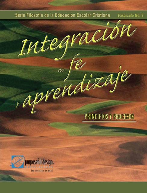 Integración de fe y aprendizaje